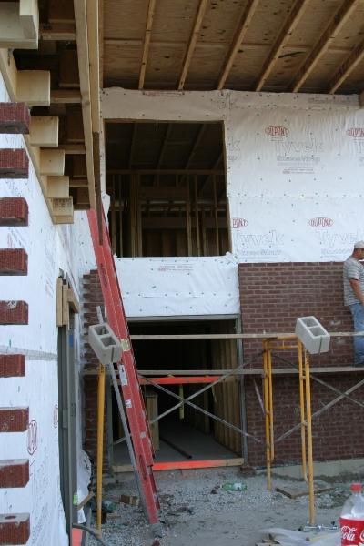 Laying Brick Facade