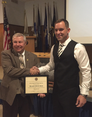 Todd Hitzeman Receives Award