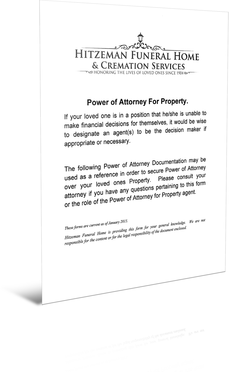 Power of attorney forms hitzeman funeral home cremation poa finance forms falaconquin